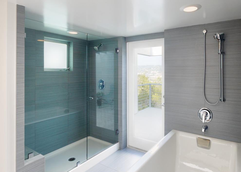 bathroom designs no tiles photo - 2