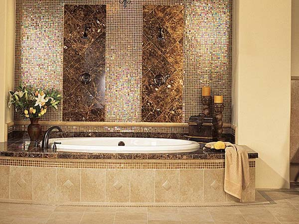 bathroom designs using glass tiles photo - 9