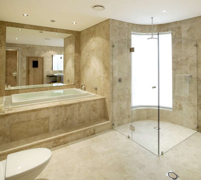 bathroom designs with marble tiles photo - 8