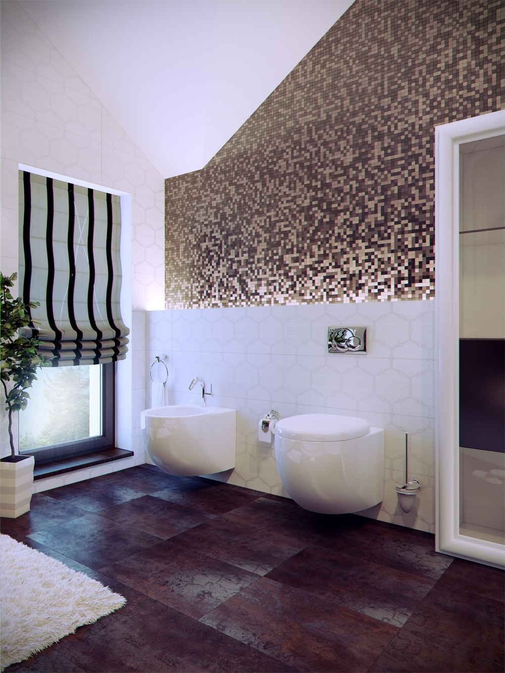 bathroom tile designs contemporary photo - 10