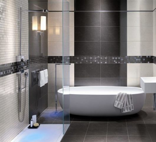 bathroom tile designs contemporary photo - 2