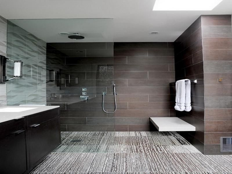 bathroom tile designs contemporary photo - 3