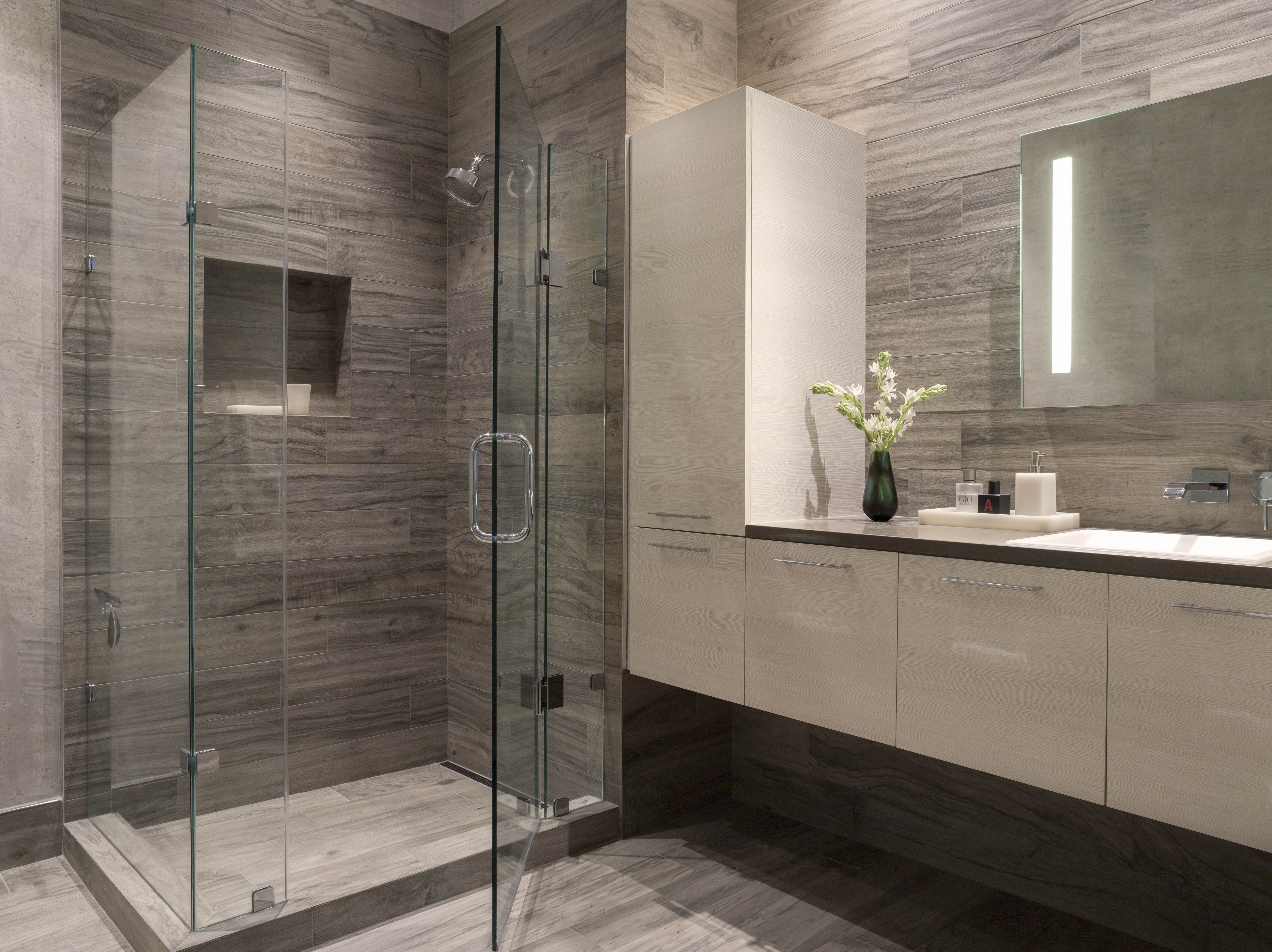 bathroom tile designs contemporary photo - 5