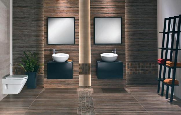 bathroom tile designs contemporary photo - 8