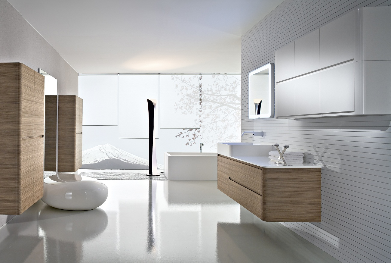 bathroom tile designs contemporary photo - 9