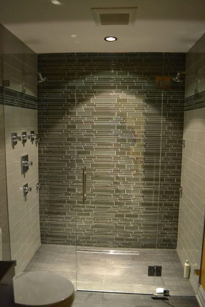 bathroom tile designs glass photo - 10