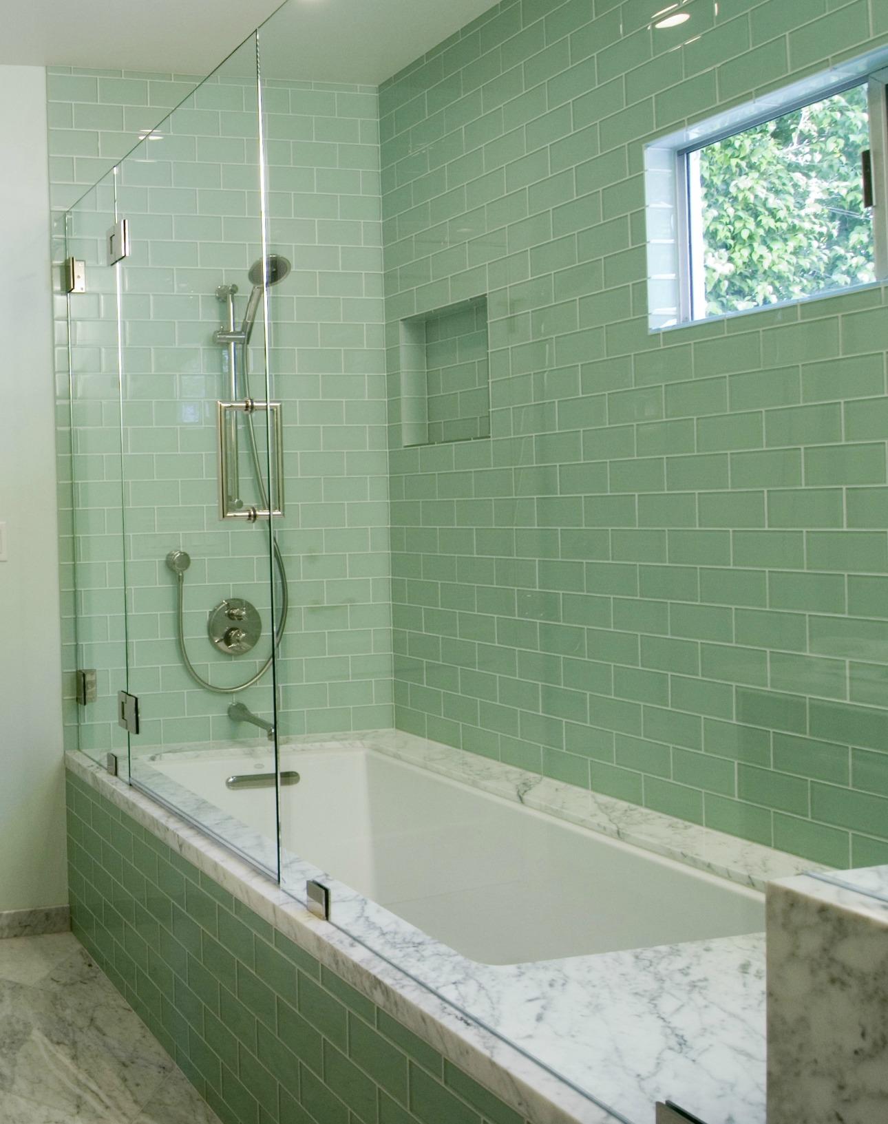 bathroom tile designs glass photo - 2