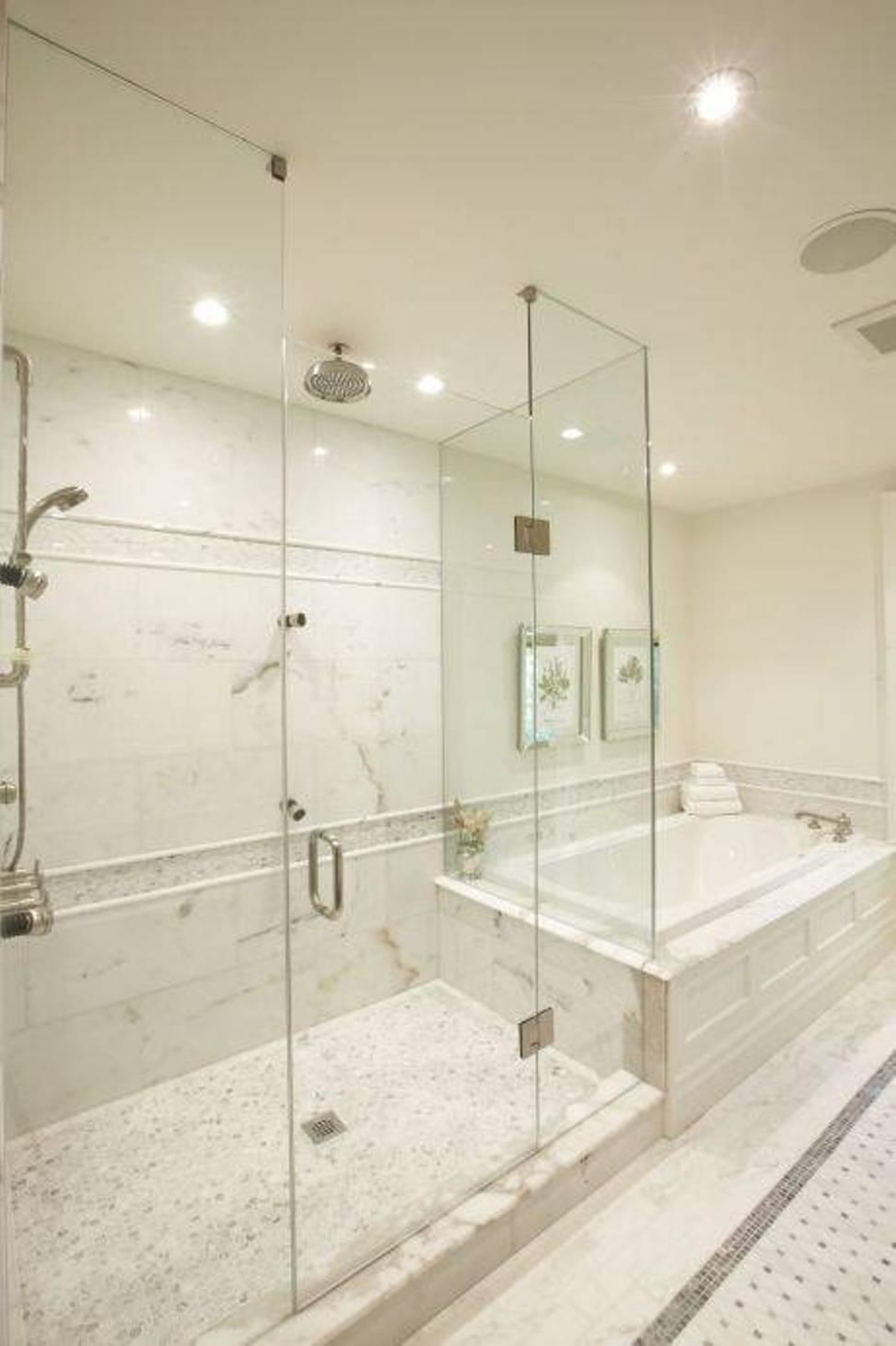 bathroom tile designs glass photo - 3