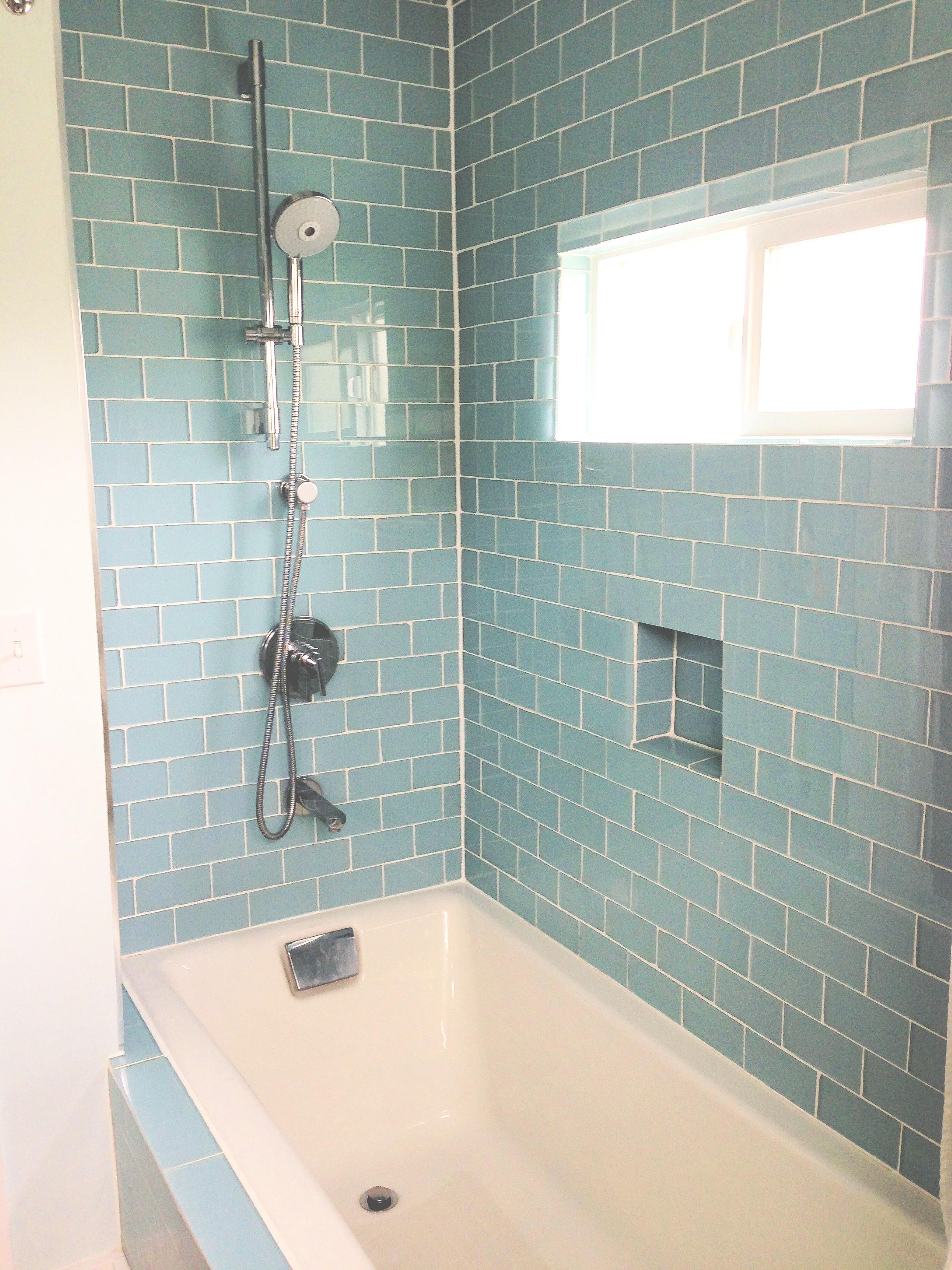 bathroom tile designs glass photo - 5
