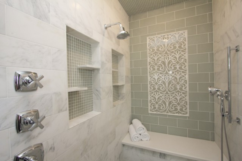 bathroom tile designs glass photo - 6