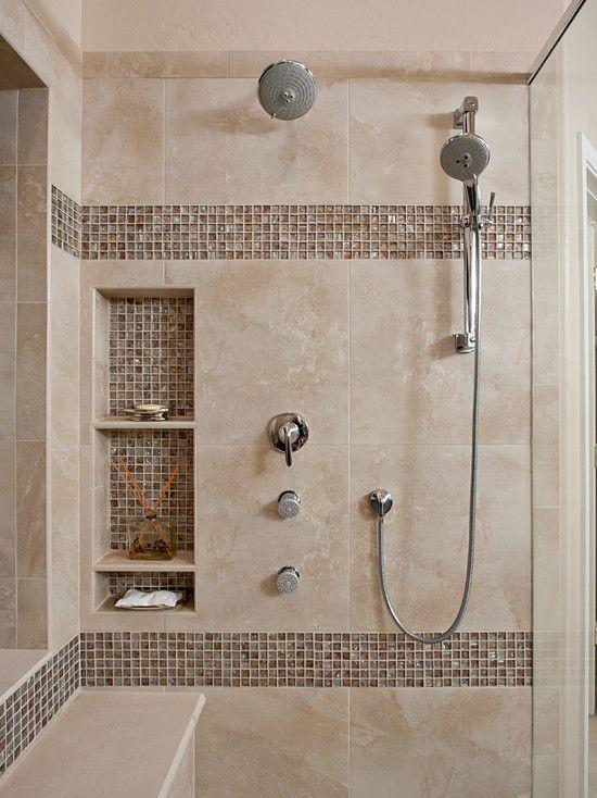 bathroom tile designs glass photo - 7