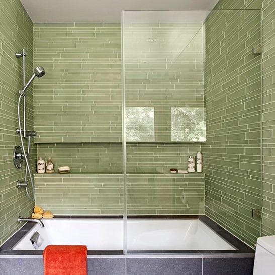 bathroom tile designs glass photo - 9