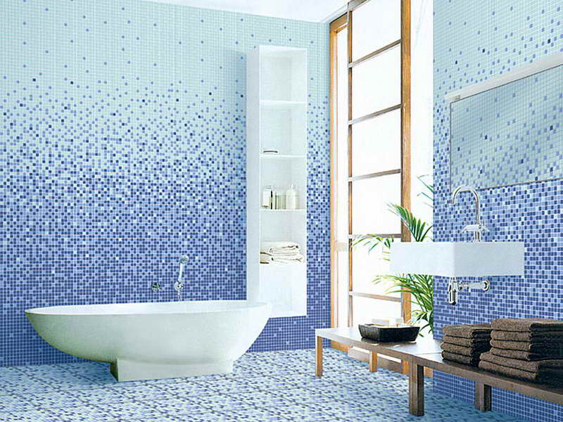 bathroom tile designs mosaic photo - 2