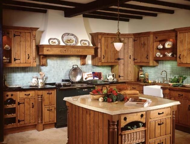 beautiful country kitchen designs photo - 2