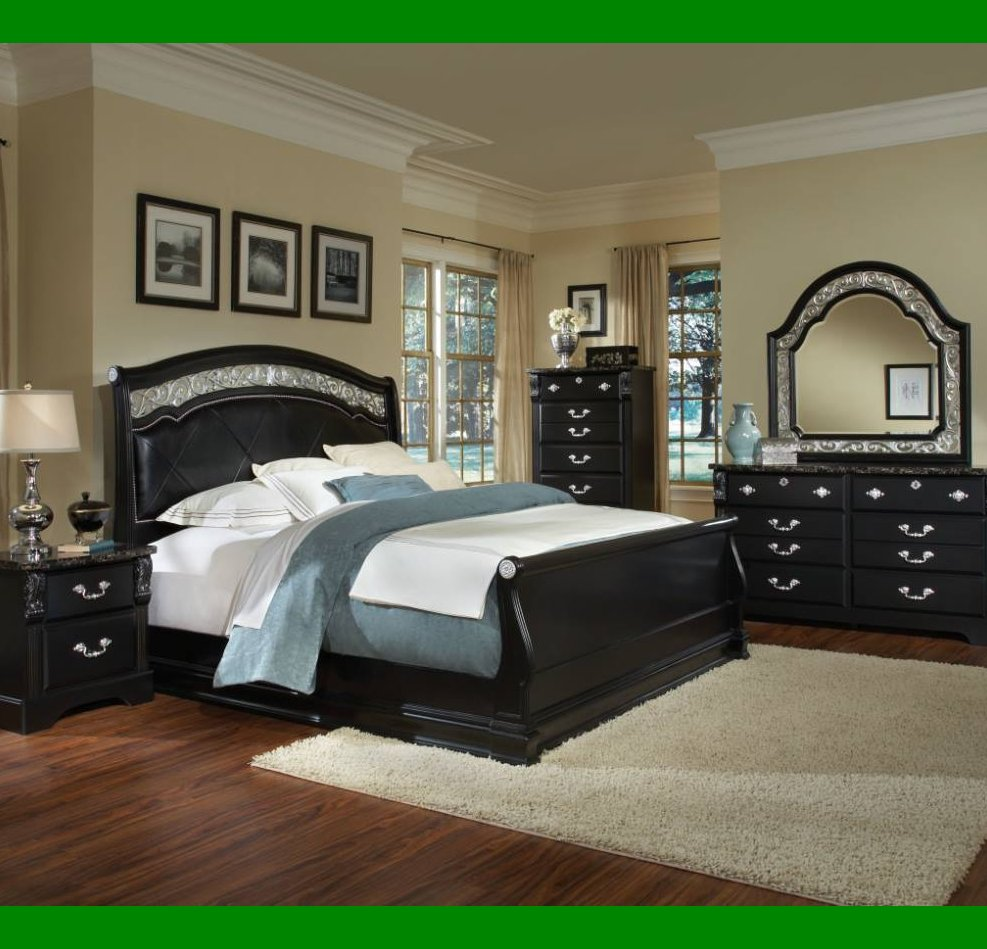 bedroom black furniture paint colors photo - 10