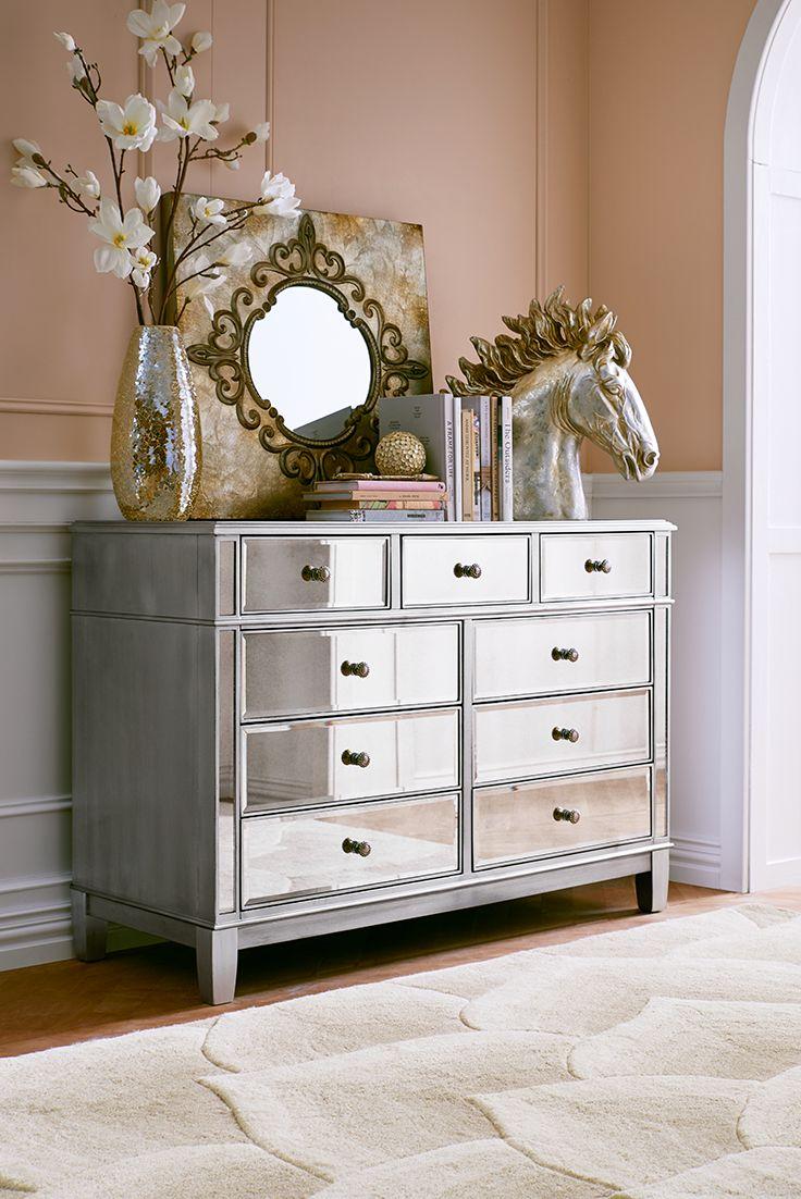 bedroom decorating ideas mirrored furniture photo - 1