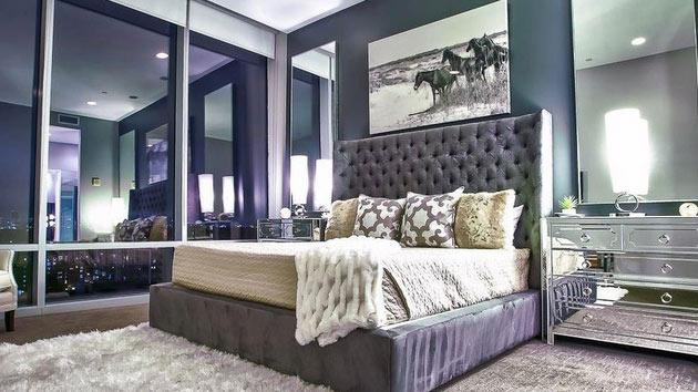 bedroom decorating ideas mirrored furniture photo - 3