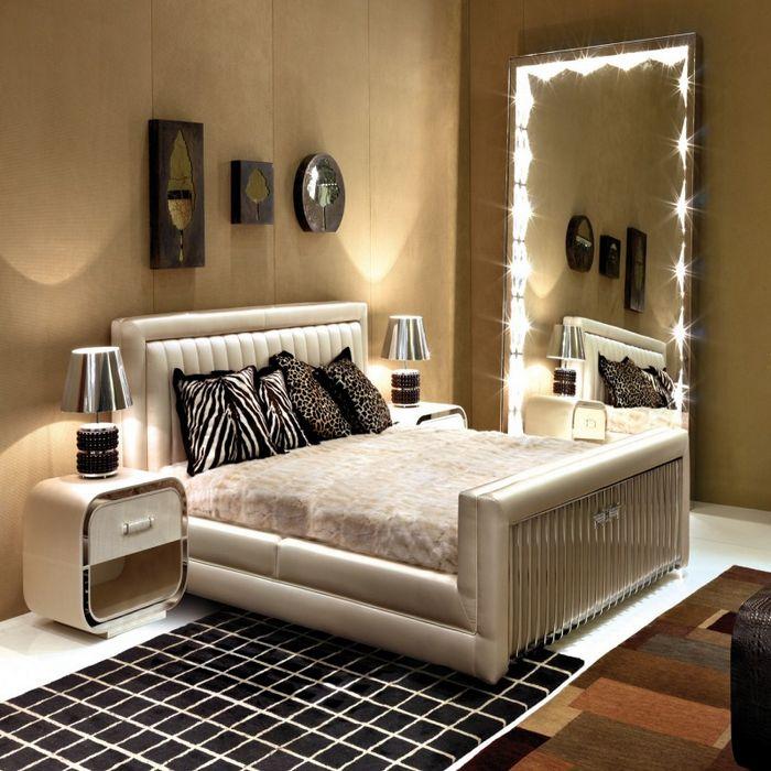 bedroom decorating ideas mirrored furniture photo - 8