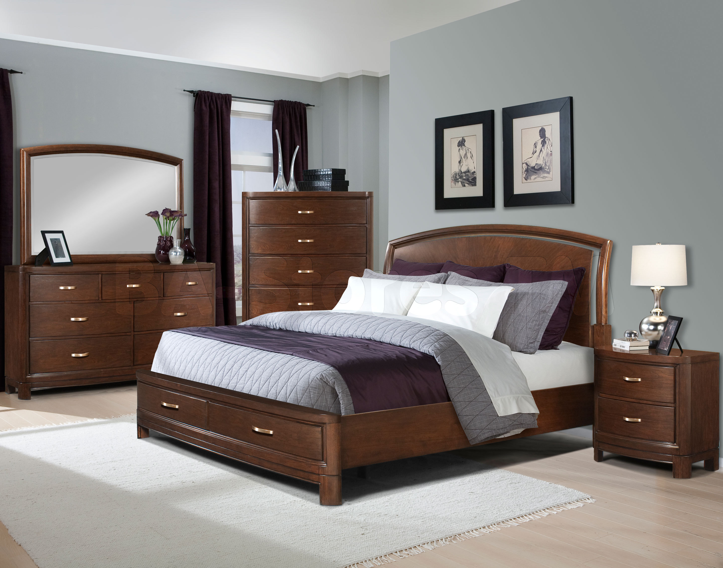 bedroom designs with brown furniture photo - 1