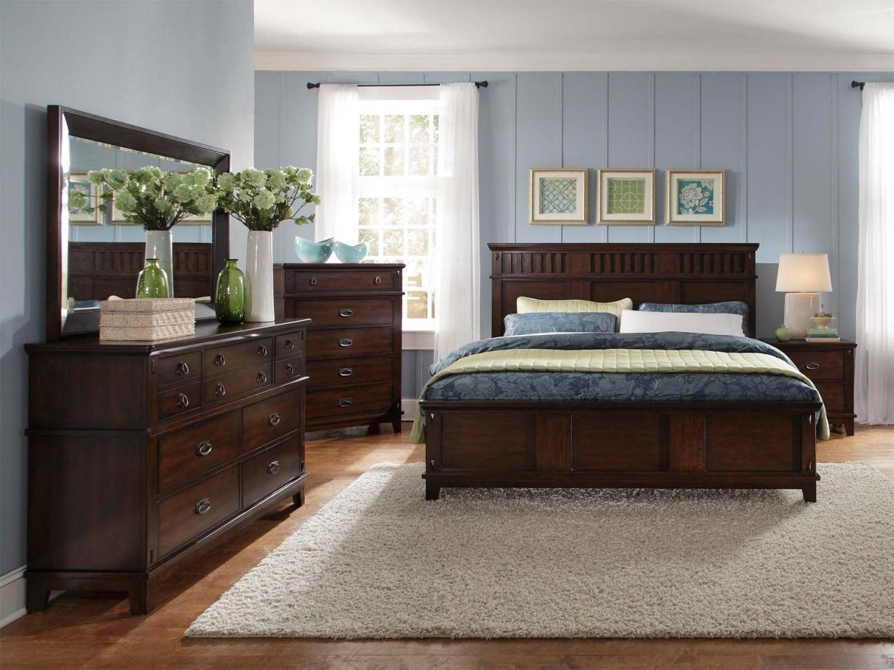 bedroom designs with brown furniture photo - 10