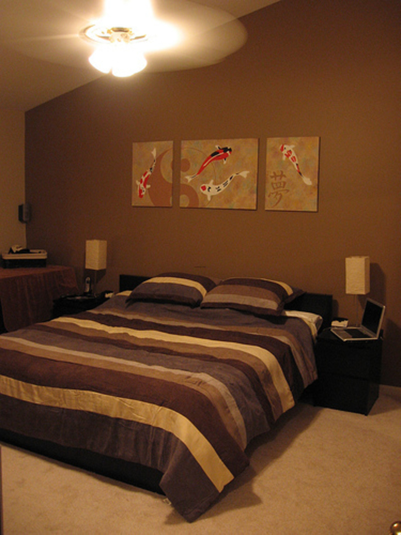 bedroom designs with brown furniture photo - 2