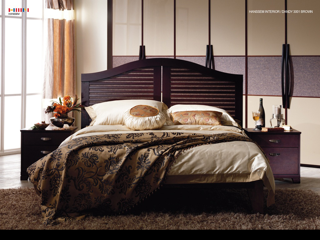 bedroom designs with brown furniture photo - 3
