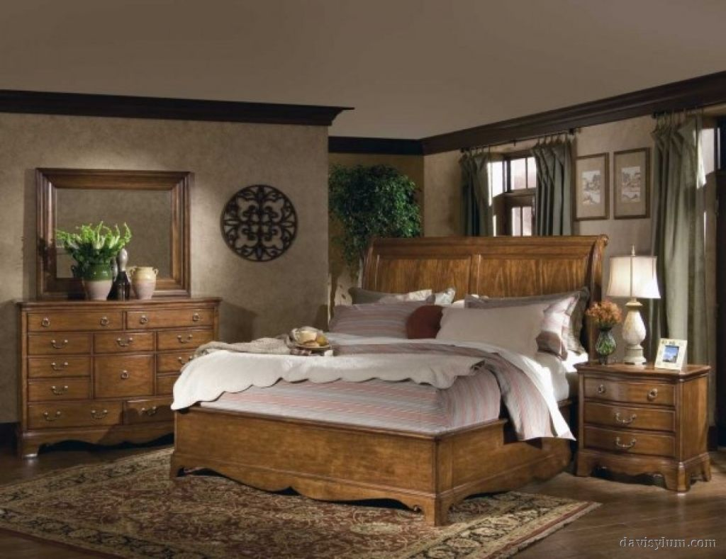 bedroom designs with brown furniture photo - 6