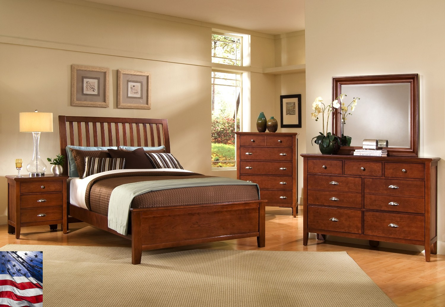 bedroom designs with brown furniture photo - 7