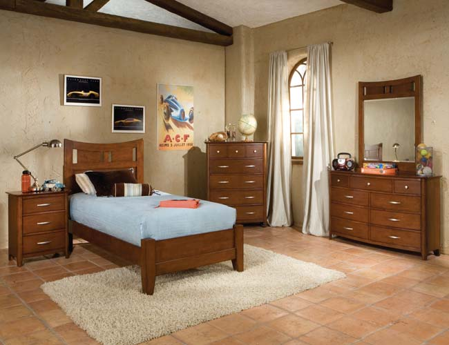 bedroom designs with brown furniture photo - 9