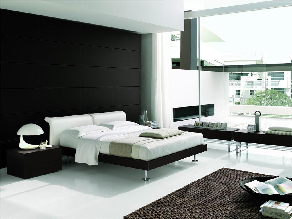 bedroom furniture black white photo - 6
