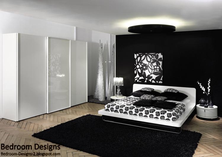 bedroom furniture black white photo - 7
