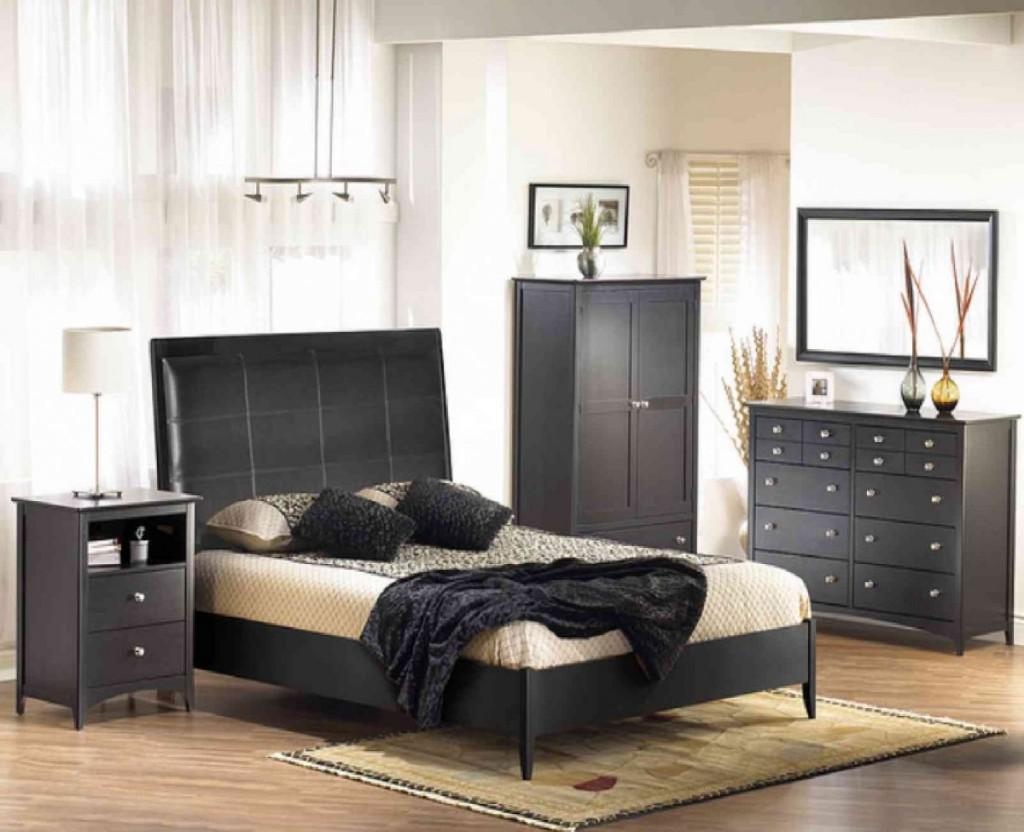 bedroom furniture black white photo - 8