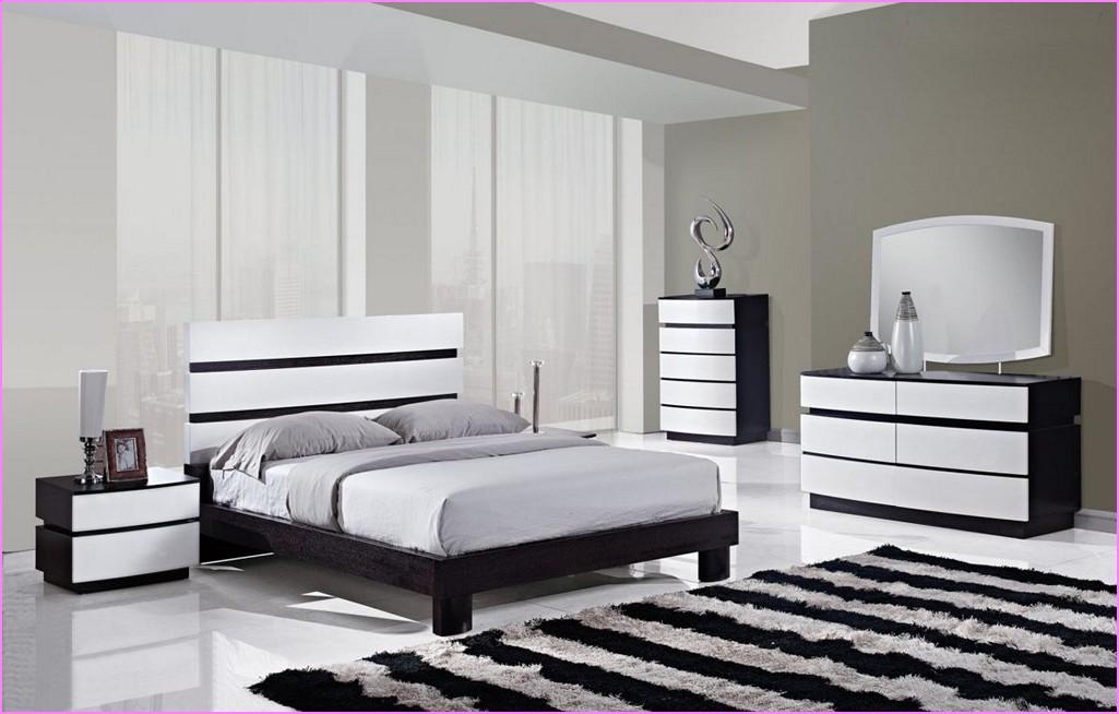 bedroom furniture black white photo - 9