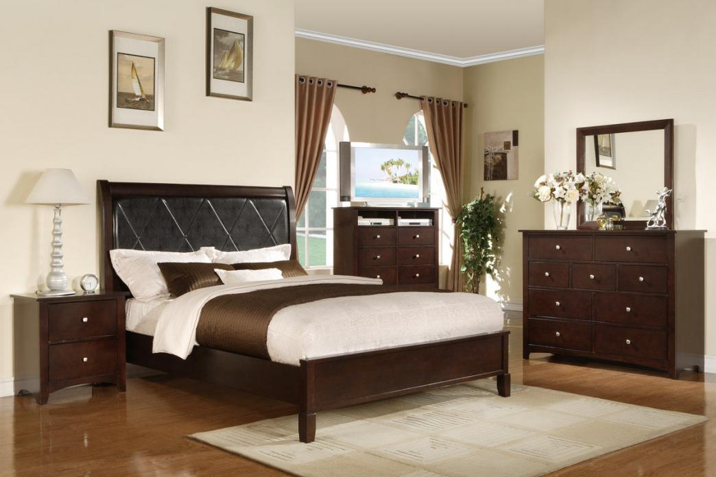 bedroom furniture black wood photo - 10