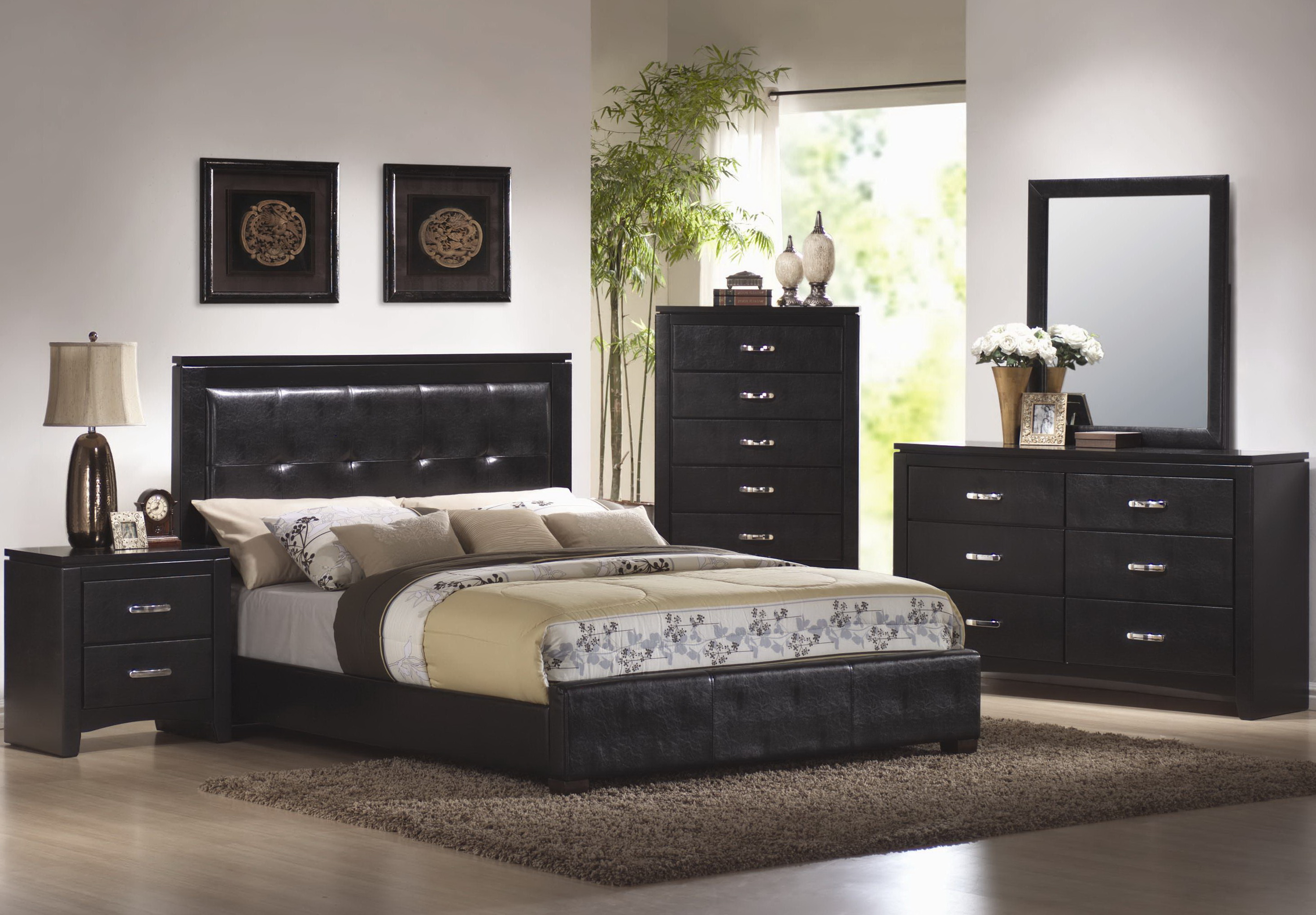 bedroom furniture black wood photo - 5