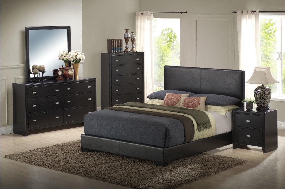 bedroom furniture black wood photo - 9