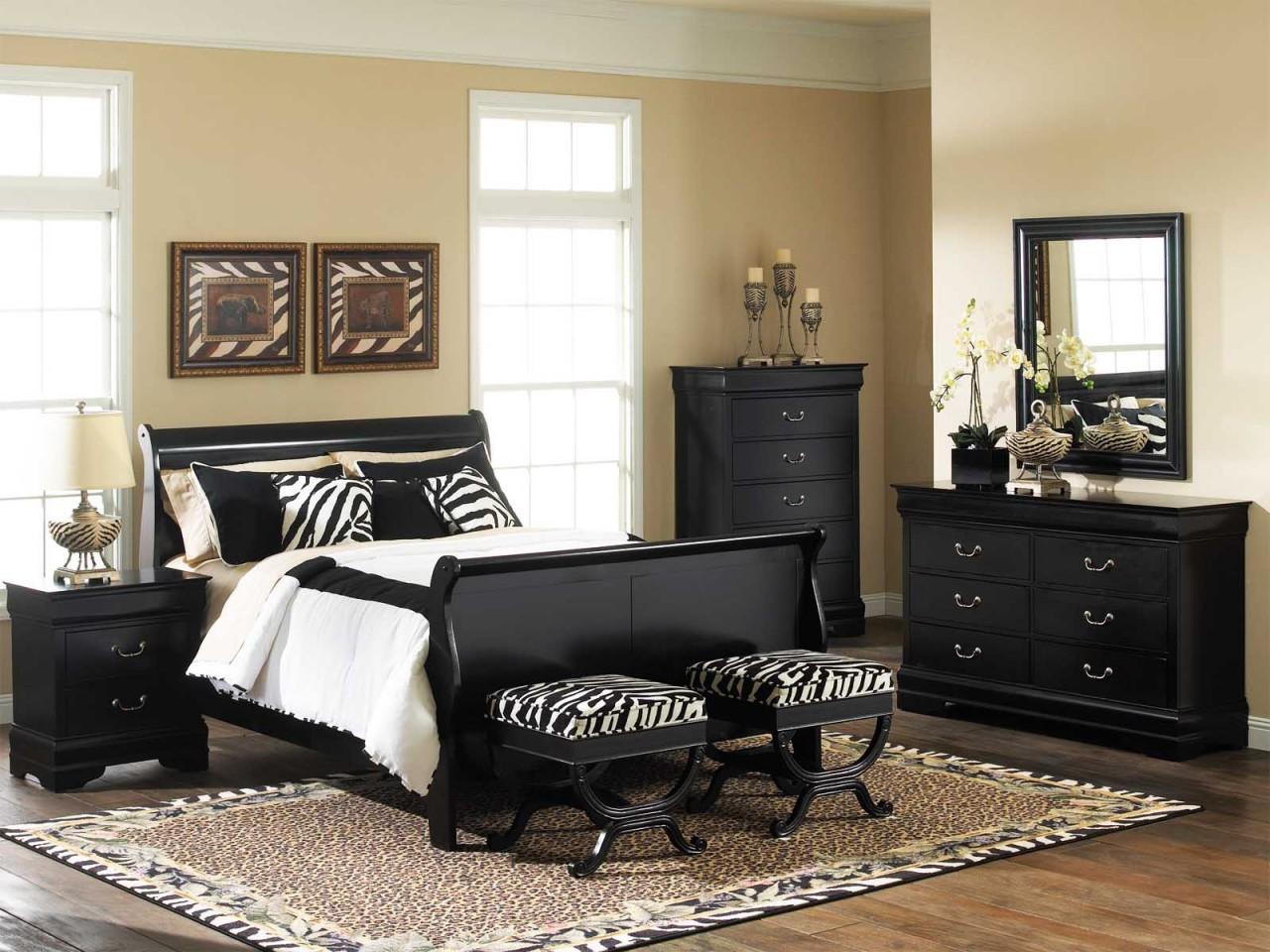 bedroom furniture sets black photo - 2