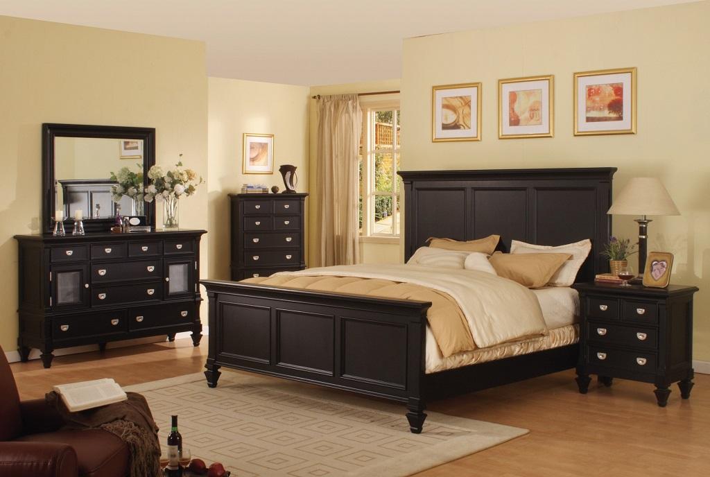 bedroom furniture sets black photo - 3