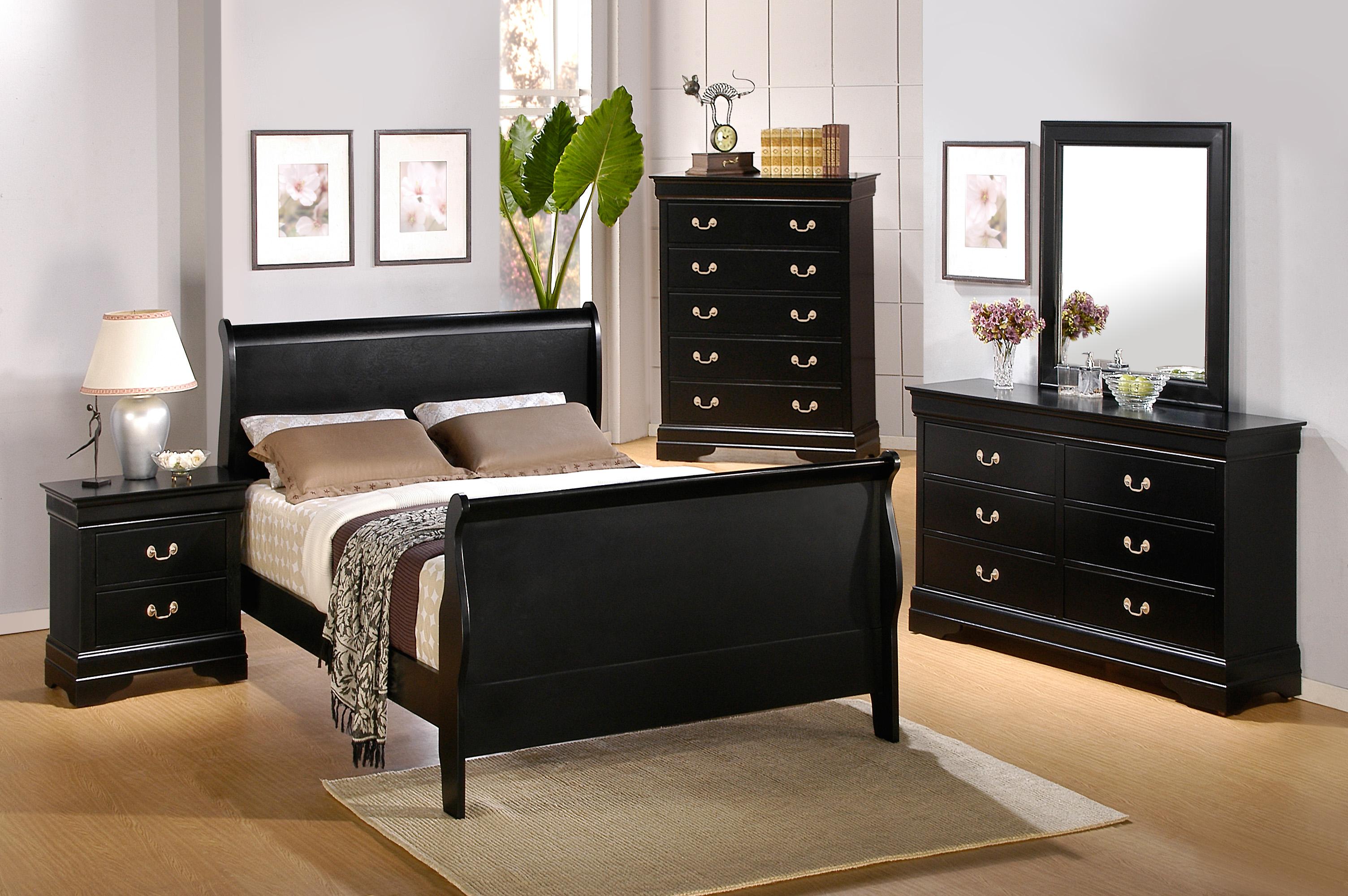 bedroom furniture sets black photo - 6