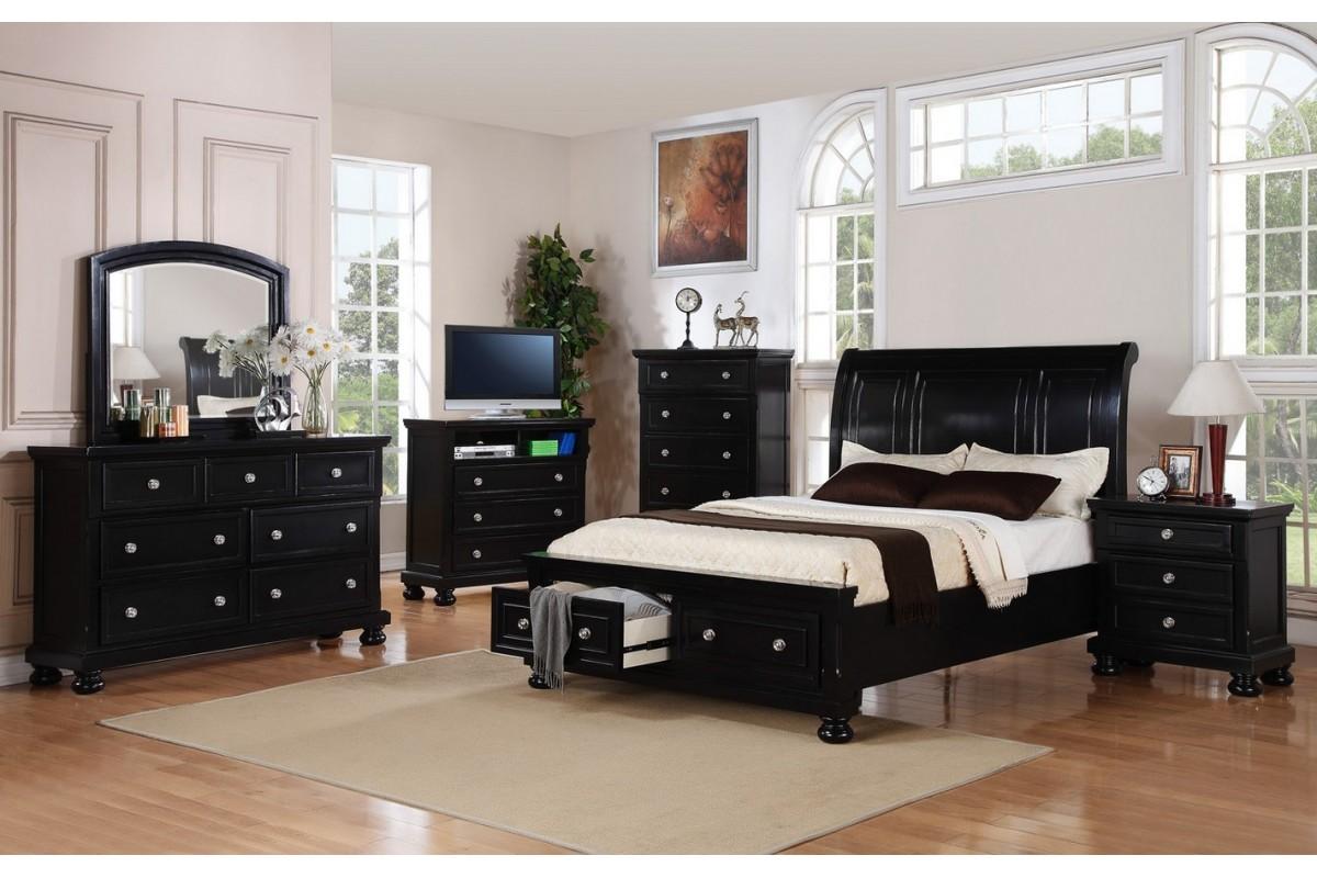 Bedroom Furniture Sets Queen Black Hawk Haven