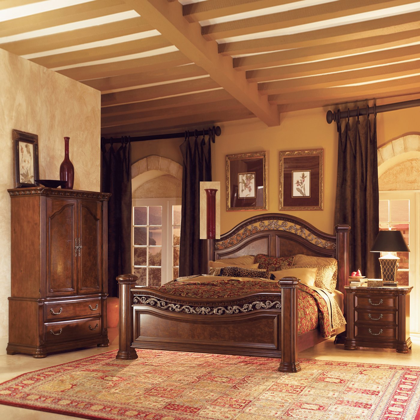 bedroom furniture sets with armoire | hawk haven