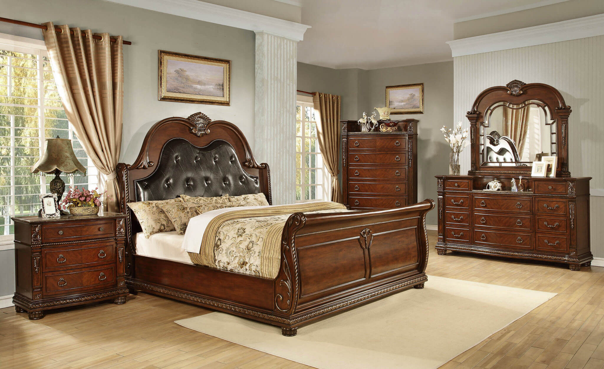 bedroom furniture sets with marble tops photo - 2