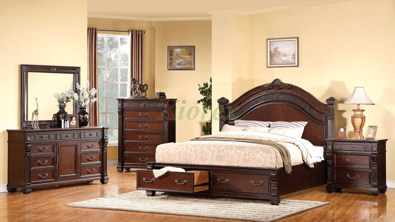 bedroom furniture sets with storage photo - 2