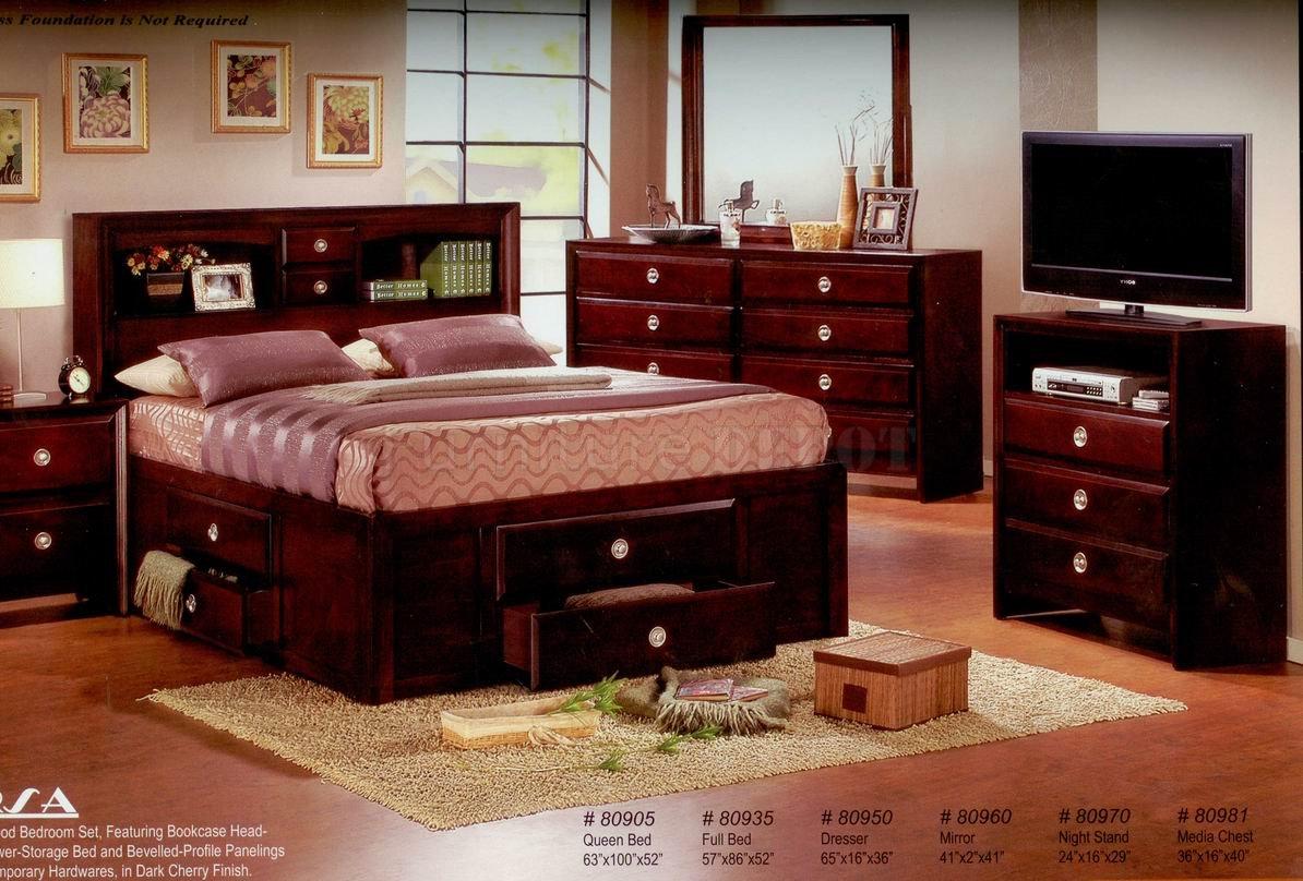 bedroom ideas cherry furniture photo - 5