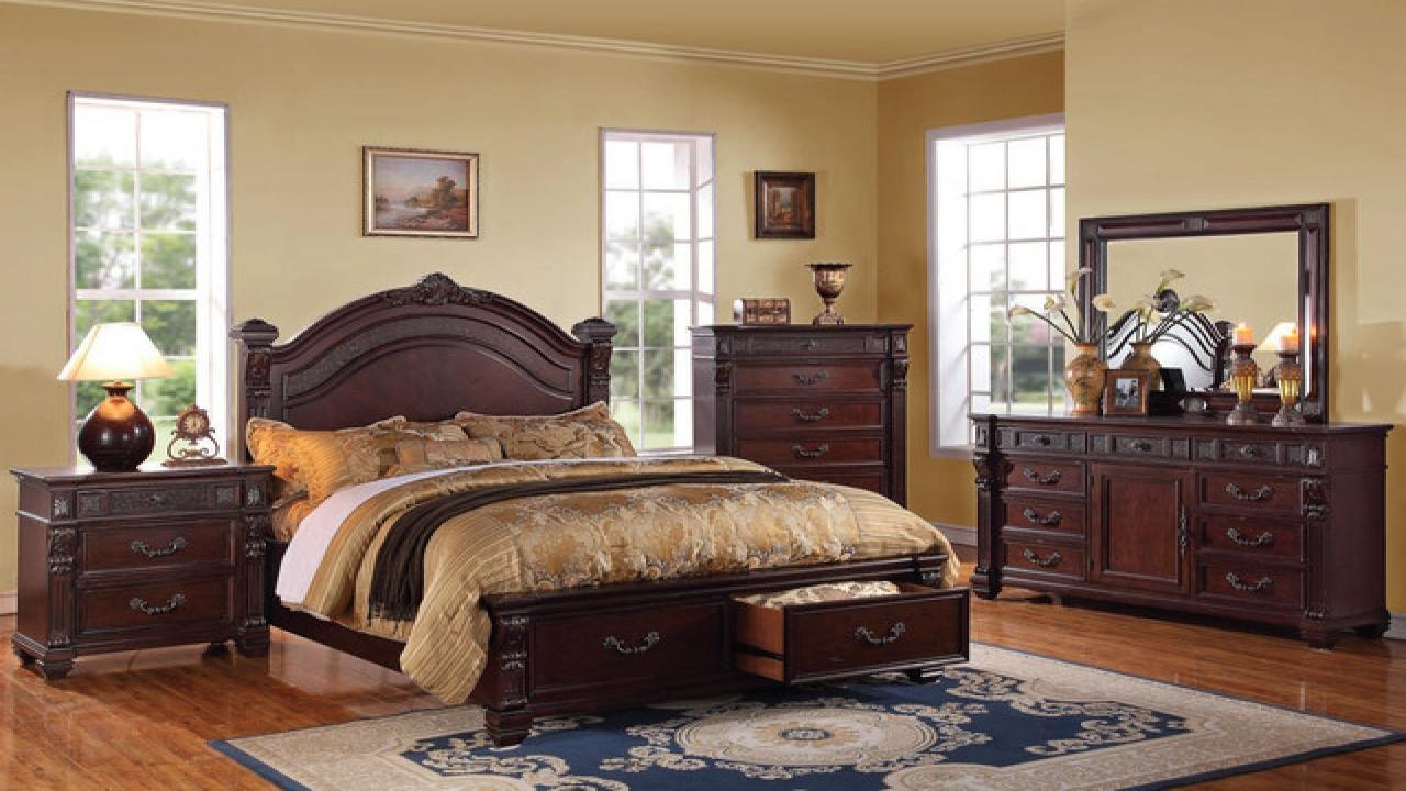 bedroom ideas cherry furniture photo - 6