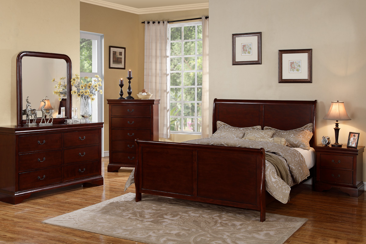 bedroom ideas cherry furniture photo - 7