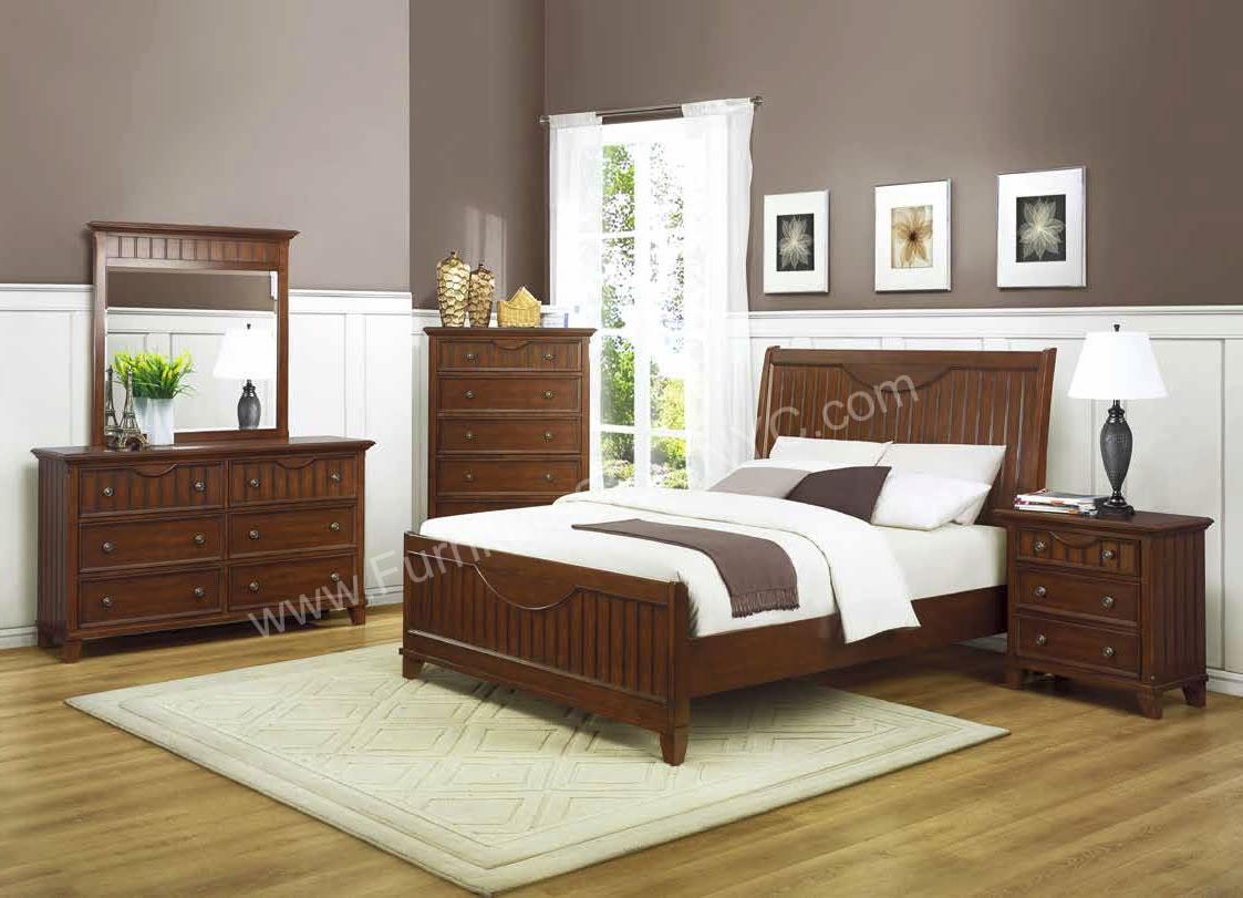 bedroom ideas cherry furniture photo - 8