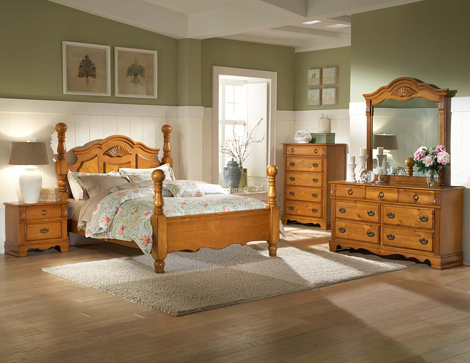 bedroom ideas with pine furniture photo - 5