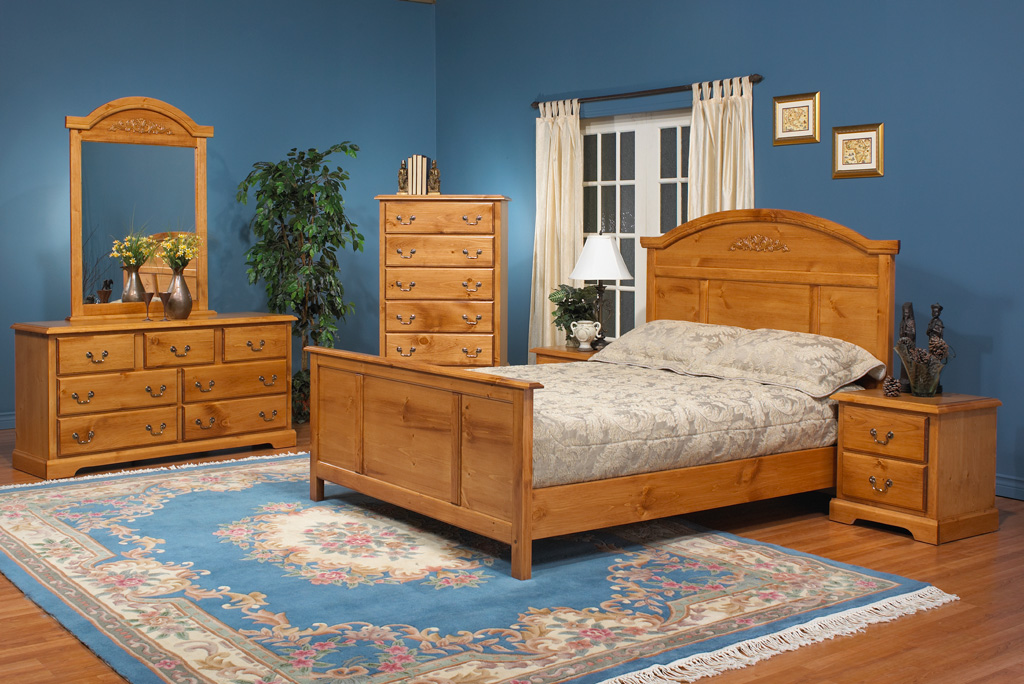 bedroom ideas with pine furniture photo - 6