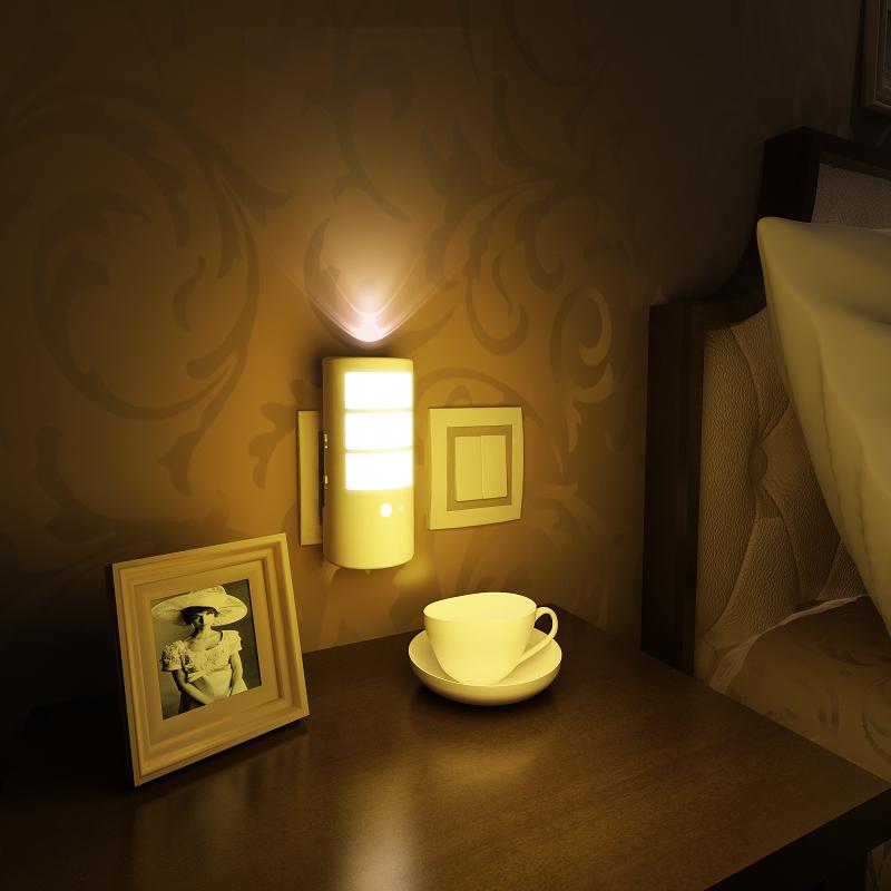 bedroom lamp with nightlight photo - 1